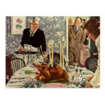Vintage Thanksgiving Day Turkey Dinner with Family Post Cards