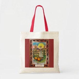 Vintage Thanksgiving design Budget Tote Bag
