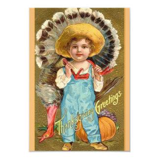 Vintage Thanksgiving Dinner Invitations