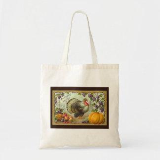 Vintage Thanksgiving Greetings Budget Tote Budget Tote Bag