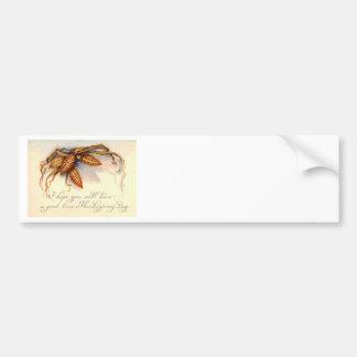 Vintage Thanksgiving Greetings & Corn Bumper Stickers
