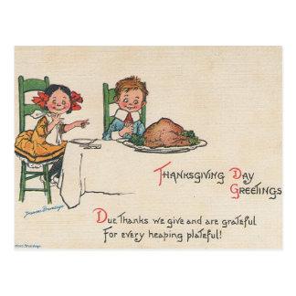 Vintage Thanksgiving Greetings Postcard