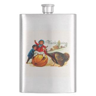 Vintage Thanksgiving Hip Flask