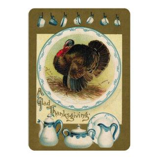 Vintage Thanksgiving Informal Invitation