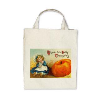 Vintage Thanksgiving Organic Tote Bag