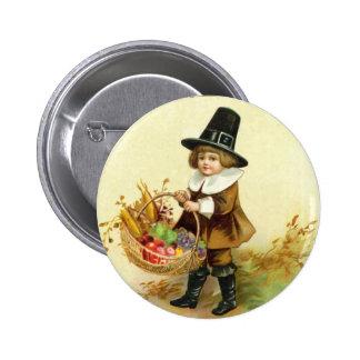 Vintage Thanksgiving Round Button