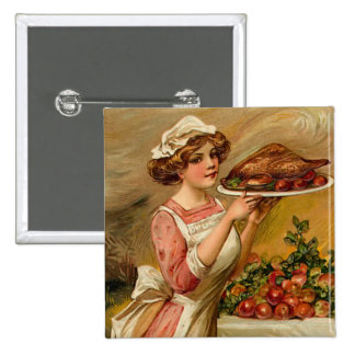 Vintage Thanksgiving Square Button