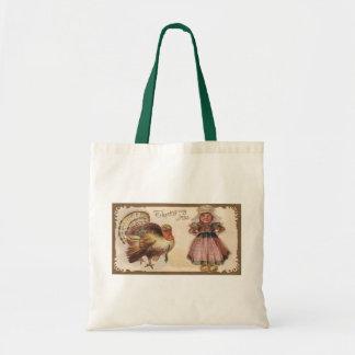 Vintage Thanksgiving Turkey Budget Tote Bag