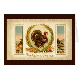 Vintage Thanksgiving Turkey Card