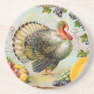 Vintage Thanksgiving Turkey Coaster
