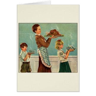 Vintage Thanksgiving Turkey Greeting Card