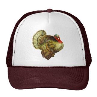 Vintage Thanksgiving Turkey Man's Cap Hat