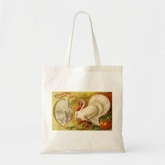 Vintage Thanksgiving Turkey Tote Tote Bag