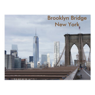 Vintage The Brooklyn Bridge in New York City Postcard
