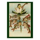 Vintage - The Entertainer Frog Card