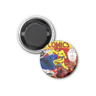 Vintage The Flame Wonderworld Comics Superhero Magnet