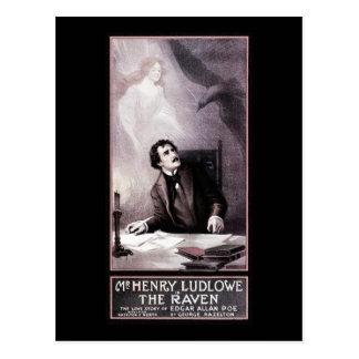 Vintage The Raven Theatrical Postcard