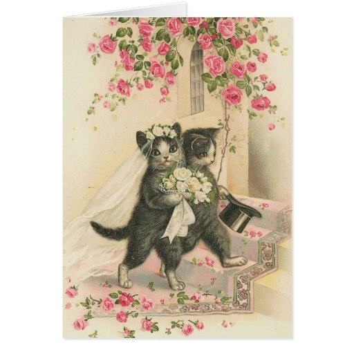Vintage - The Wedding Cats Greeting Cards