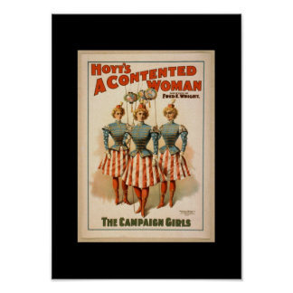 Vintage Theater Posters Hoyt's A Contented Woman Poster