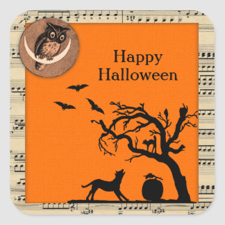 Vintage Themed Halloween Stickers
