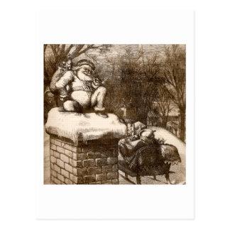 Vintage Thomas Nash Harper's Weekly 1865 Santa Postcard