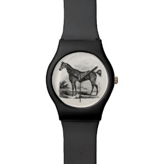 Vintage Thoroughbred Horse Equestrian Personalized Watch