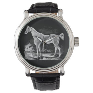 Vintage Thoroughbred Horse Equestrian Personalized Wrist Watch