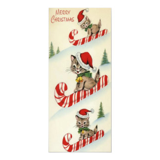 Vintage Three Adorable Kittens on Candy Can Card