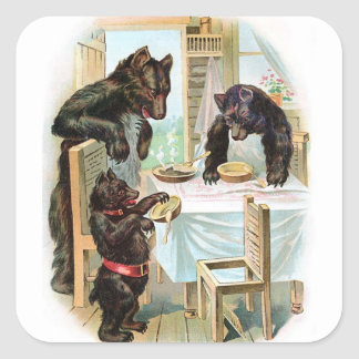 Vintage Three Bears Sticker