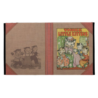 Vintage Three Little Kittens Old Book Cover Style iPad Case