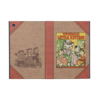 Vintage Three Little Kittens Old Book Cover Style Case For iPad Mini