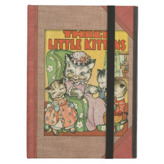 Vintage Three Little Kittens Old Book Cover Style iPad Air Covers