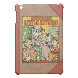 Vintage Three Little Kittens Old Book Cover Style iPad Mini Case