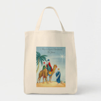 Vintage Three Wise Men Organic Grocery Tote Canvas Bags