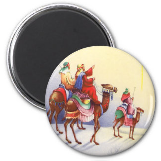 Vintage Three Wise Men Round Magnet