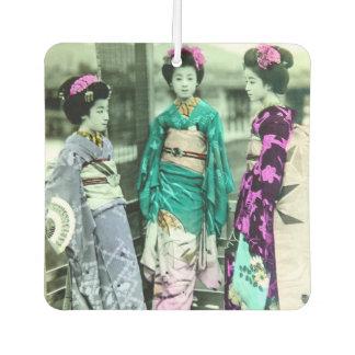 Vintage Three Young Geisha in Old Japan