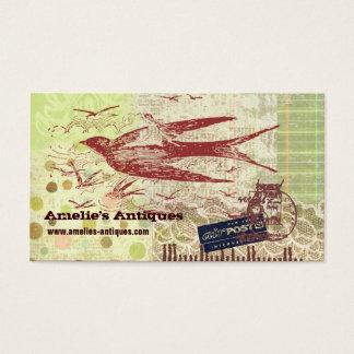 Vintage Thumbelina Collage Profile Card