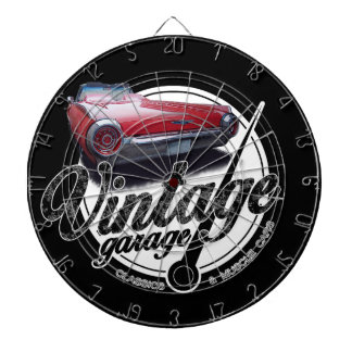 Vintage Thunderbird Garage Dartboard