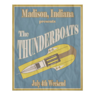 Vintage Thunderboat Poster