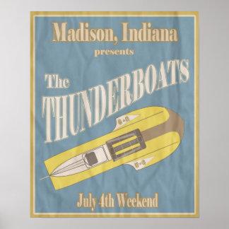 Vintage Thunderboat Regatta Poster