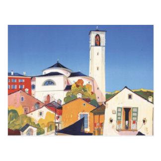 Vintage Ticino Tessin Canton Switzerland Postcard