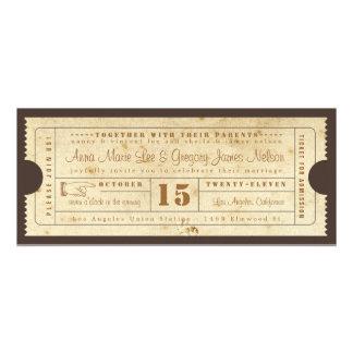 Vintage Ticket Invitation