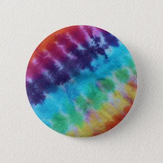 Vintage Tie Dye Pattern Hippie Rainbow 1960s 6 Cm Round Badge