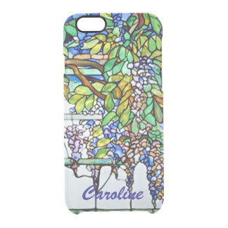 Vintage Tiffany Stained Glass Wisteria Floral Art Clear iPhone 6/6S Case