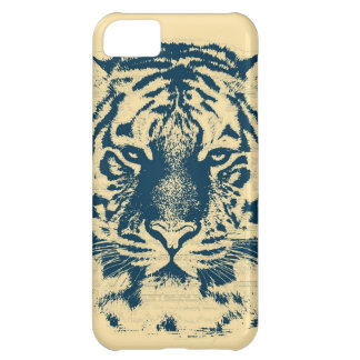 Vintage Tiger Face Close Up iPhone 5C Case