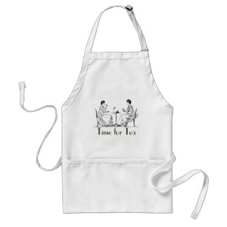 "Vintage ""Time for Tea"" Standard Apron"