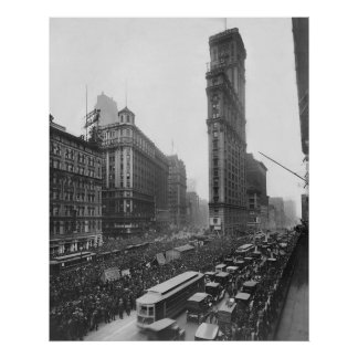 Vintage Times Square NYC Photograph (1911) Poster