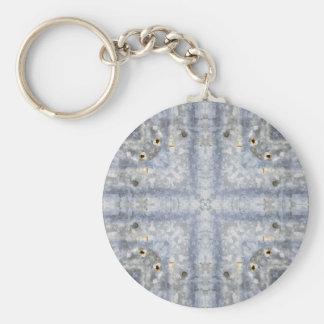 Vintage Tin Roof Kaleidoscope Pattern Key Chains