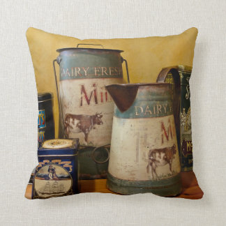 Vintage Tins and Jugs Cushions