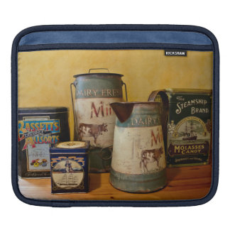 Vintage Tins and Jugs Sleeve For iPads